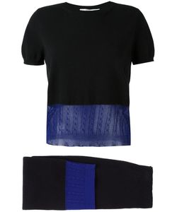 Victoria Beckham | Layered Knit Top And Skirt Two Piece Set