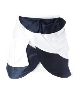 J.W. Anderson   J.W.Anderson Orbital Layered Mini Skirt 8 Silk/Acetate