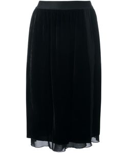 Pascal Millet | Velvet Pencil Skirt Large Silk/Spandex/Elastane/Viscose