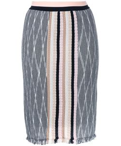 Missoni | Frayed Skirt 40 Rayon/Wool