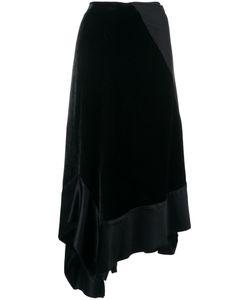 Wunderkind | Velvet Draped Asymmetric Skirt 34 Silk/Viscose