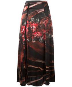 Wunderkind | Print Draped Skirt 36 Silk/Cotton/Nylon/Spandex/Elastane