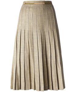 Celine Vintage   Céline Vintage Pleated Midi Skirt 38