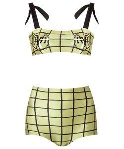 Adriana Degreas | Plaid Print Bikini Set Womens Size P Polyamide/Spandex/Elastane