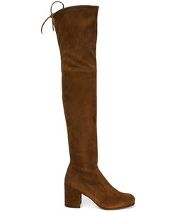 Stuart Weitzman | Over The Knee Boots 37.5 Suede/Nylon/Rubber