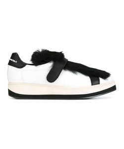 Manuel Barceló | Fur Detail Sneakers 38 Leather/Rubber