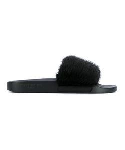 Givenchy   Mink Fur Sliders 38 Leather/Mink Fur/Rubber