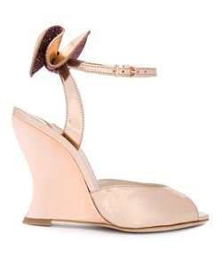 Sophia Webster | Bow Detail Wedge Sandals 35.5 Leather