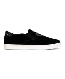 Dolce & Gabbana | London Slip-On Sneakers 40 Leather/Velvet/Rubber