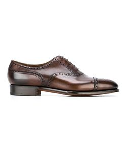 EDWARD GREEN | Dark Antique Oxford Shoes 8 Leather