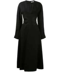 Emilia Wickstead | Cut-Out Flared Dress 8 Silk/Polyamide/Polyester