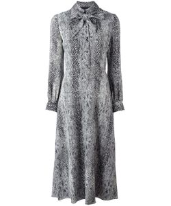 Saint Laurent | Printed Pussy Bow Dress 38 Silk/Wool