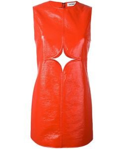 Courreges | Courrèges Cut-Off Detailing Dress 36 Cotton/Polyester/Polyurethane/Viscose