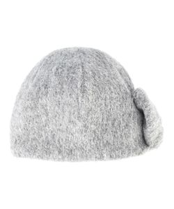 CA4LA   Side Tie Knot Beanie Acrylic/Polyester/Mohair/Wool