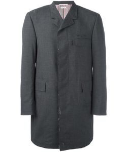 Thom Browne | Chesterfield Overcoat 3 Cupro/Wool