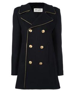 Saint Laurent | Double Breasted Coat 36 Cotton/Nylon/Wool