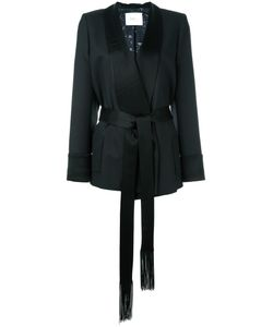 RACIL | Shawl Lapel Belted Jacket 38 Polyester/Triacetate/Viscose/Wool