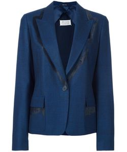 Maison Margiela | Contrast Detail Blazer 42 Cotton/Spandex/Elastane/Viscose/Virgin Wool