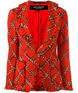 JUNYA WATANABE COMME DES GARCONS | Junya Watanabe Comme Des Garçons Vintage Boucle Knit Tartan Fitted Jacket