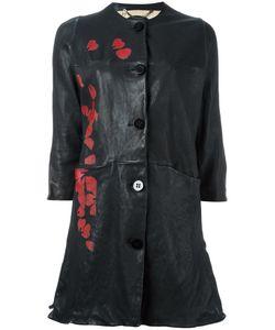 Pihakapi | Japanese Print Leather Coat Small Lamb Skin/Viscose