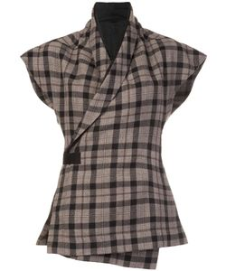 Rick Owens | Wrap Tartan Jacket 40 Cupro/Virgin Wool
