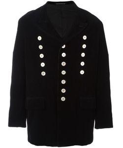 YOHJI YAMAMOTO VINTAGE | Corduroy Double Breasted Coat Small