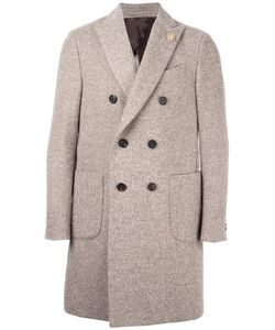 Lardini | Double Breasted Coat 48 Nylon/Acetate/Cupro/Alpaca
