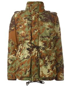 Dsquared2 | Camouflage Padded Military Jacket 42 Calf Leather/Polyamide/Polyester