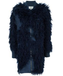 3.1 Phillip Lim | Faux Fur Knit Bomber Coat Small