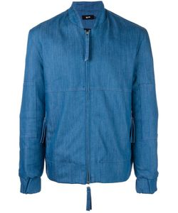 Blood Brother | Denim Bomber Jacket Large Cotton/Spandex/Elastane