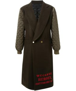 DRESS CAMP | Dresscamp Embroidered Heroes Quote Coat 44 Nylon/Wool