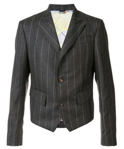 Vivienne Westwood | Man Pinstripe Short Blazer 52 Viscose/Wool