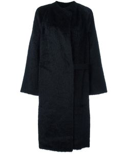 Helmut Lang | Shaggy Long Coat Small Cotton/Cupro/Wool/Alpaca