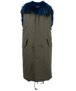 Furs66 | Murmansky Sleeveless Parka 42 Cotton/Coyote Fur/Raccoon Dog