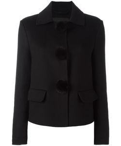 Ermanno Scervino | Pompom Detail Cropped Jacket 40 Mink