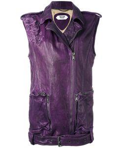 Pihakapi | Biker Leather Vest Small Lamb Skin/Viscose