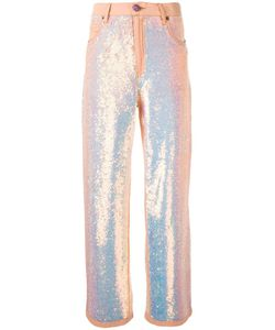 Ashish | Sequin Flared Trousers Medium Cotton/Pvc