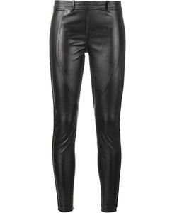 Faith Connexion   Leather Effect Trousers 40 Polyester/Polyurethane