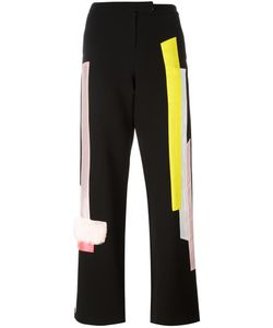 Caitlin Price | Panneled Straight Trousers Small Silk/Polyester/Viscose Crepe