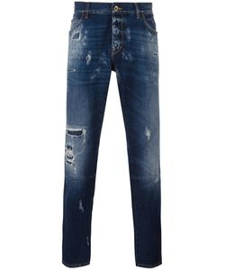 Dolce & Gabbana | Ripped Detail Jeans 52 Cotton/Calf