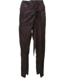 Ann Demeulemeester | Cortez High-Waisted Trousers 38 Nylon/Acetate/Rayon/Wool