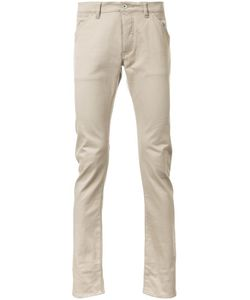 KAZUYUKI KUMAGAI | Straight Trousers 3 Cotton/Polyurethane
