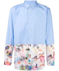 Comme Des Garcons   Comme Des Garçons Shirt Patchwork Shirt Small Cotton