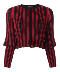 Sonia Rykiel | Tight Longsleeves Striped Pullover Xs Polyester/Spandex/Elastane/Viscose