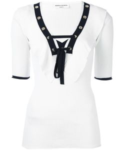Sonia Rykiel | Laced Eyelet Top Small Cotton/Viscose