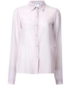 Bianca Spender | Semi-Sheer Long Sleeve Shirt 12 Polyester