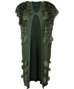 Alena Akhmadullina | Origami Vest Cardigan 42 Fox Fur/Cashmere