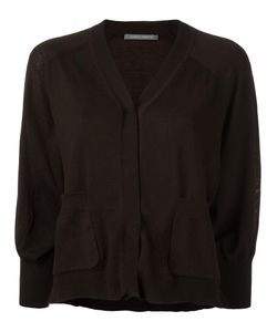 Alberta Ferretti | Cropped Buttoned Cardigan 40 Virgin Wool