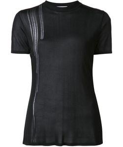 Paco Rabanne   Sheer Crew Neck T-Shirt 40 Viscose