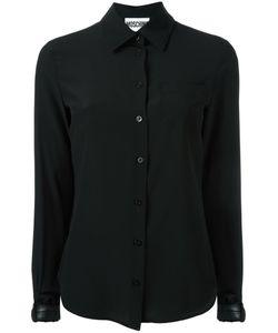 Moschino | Buckle Cuff Blouse 44 Silk/Polyester/Polyurethane